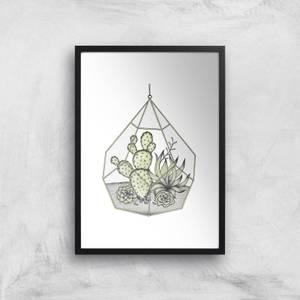Succulent Terrarium Art Print