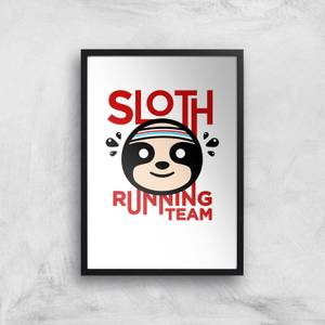 Sloth Running Team Art Print