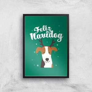 Feliz Navidog Art Print