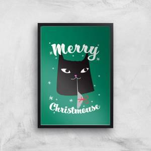 Merry Christmouse Art Print