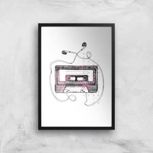 Mixtape Art Print