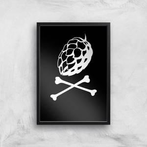 Hop'n Cross Bones Art Print