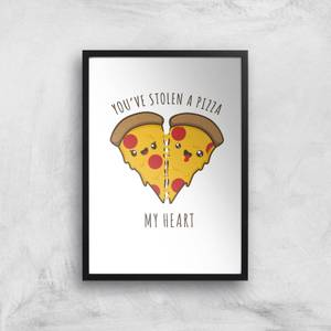 A Pizza My Heart Art Print