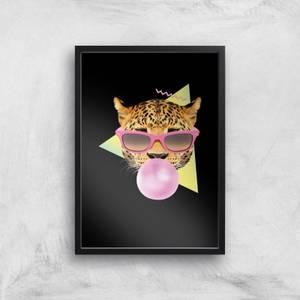 Bubblegum Leo Art Print
