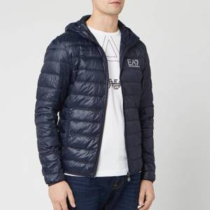Emporio Armani EA7 Men's Down Hooded Jacket - Night Blue