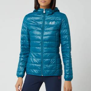 Emporio Armani EA7 Women's Train Core Lady Light Down Packable Jacket - Blue Coral