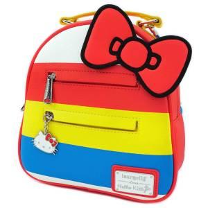 Loungefly Mini sac à dos à rayures Sanrio Hello Kitty