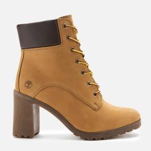 Timberland Women's Allington 6 Inch Lace up Boots - Wheat Nubuck