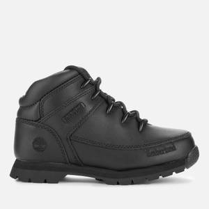 Timberland Kids' Euro Sprint Boots - Black Full Grain
