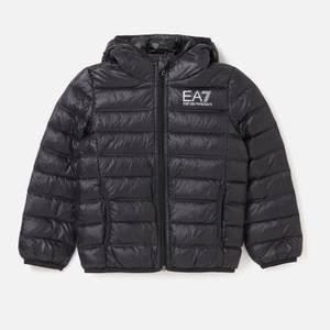 Emporio Armani EA7 Boys' Sporty Core Identity Hooded Jacket - Black