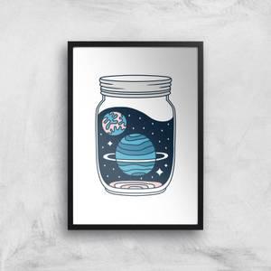 Space Jar Art Print