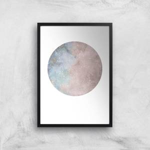 Colourful Moon Art Print