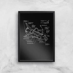 Shuttle Schematic Art Print