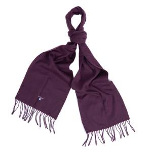 Barbour Men's Plain Lambswool Scarf - Wine