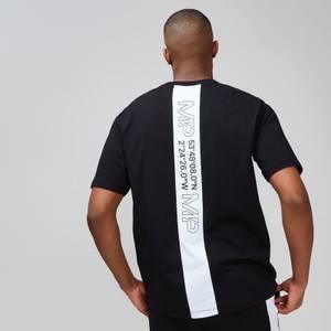 Tricou MP grafic de bărbați pentru zilele de odihnă - Negru