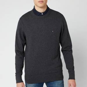 Tommy Hilfiger Men's Pima Cotton Cashmere Sweater - Charcoal Heather