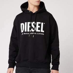 Diesel Men's Division Diesel Logo Hoodie - Black