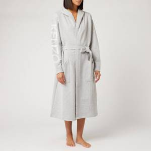 KENZO KLogo Bathrobe - Light Grey