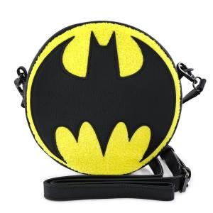 Loungefly DC Comics Dc Batman Chenille Canteen Crossbody Bag