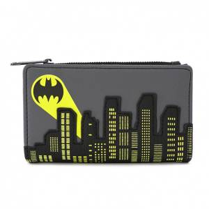Loungefly DC Comics Dc Batman Bat Signal Flap Wallet