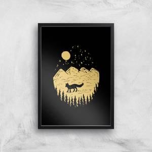 Moonlight Fox Adventure Art Print