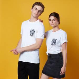 T-shirt Vigilante Pocket Print - Blanc