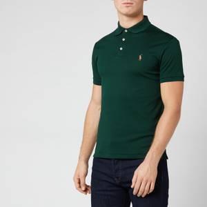 Polo Ralph Lauren Men's Pima Soft Touch Slim Fit Short Sleeve Polo Shirt - College Green
