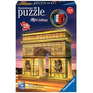 Ravensburger Arc de Triomphe Night Edition 3D Jigsaw Puzzle (216 Pieces)