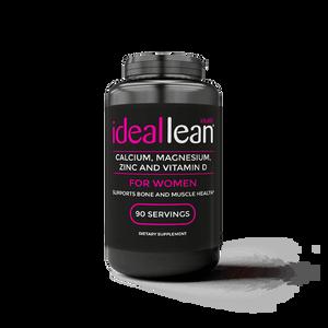 IdealLean Calcium & Magnesium + Zinc & Vitamin D3, 90 Servings