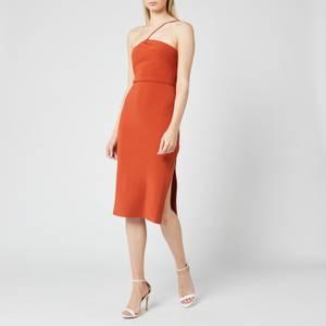 Bec & Bridge Women's Ruby Asym Midi Dress - Rust