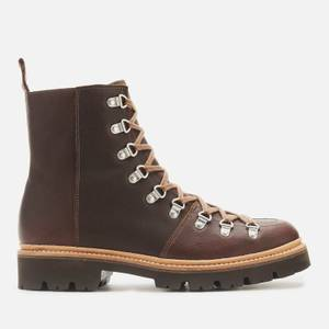 Grenson Men's Brady Leather Hiking Style Boots - Brown