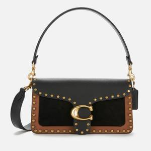 Coach Women's Mixed Leather Rivets Tabby Shoulder Bag 26 - Black Multi