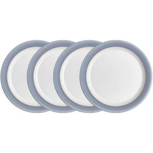 Denby Natural Denim 4 Piece Dinner Plate Set