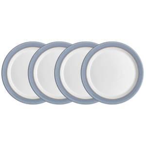 Denby Natural Denim 4 Piece Medium Plate Set