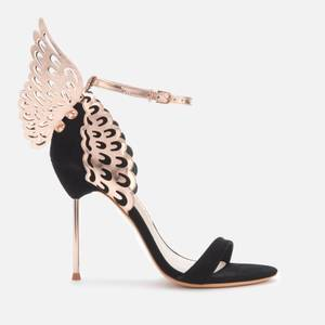 Sophia Webster Women's Evangeline Barely There Heeled Sandals - Black/Rose Gold