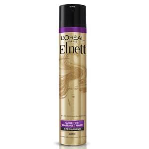 L'Oréal Paris Hairspray by Elnett Care For Dry Damaged Hair Strong Hold Argan Oil Shine 400ml