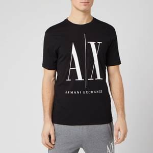 Armani Exchange Men's Large Ax Logo T-Shirt - Black