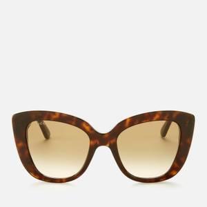 Gucci Women's Cat Eye Acetate Sunglasses - Havana