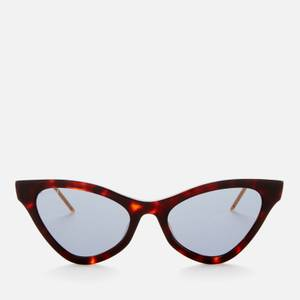 Gucci Women's Cat Eye Acetate Sunglasses - Havana/Blue