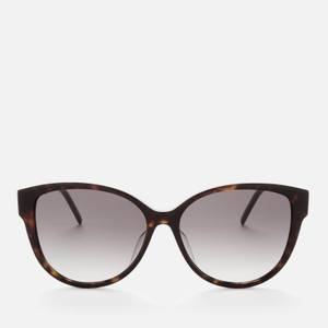 Saint Laurent Women's SLM48S Oversized Acetate Sunglasses - Havana/Gold