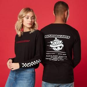 T-shirt à manches longues Unisexe Spiny Shell - Noir