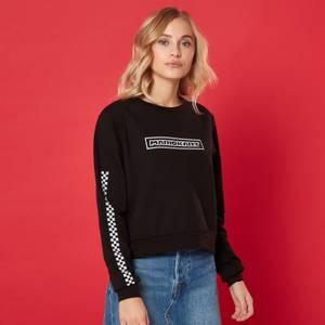 Sweat-shirt Crop Pit Crew - Femme - Noir