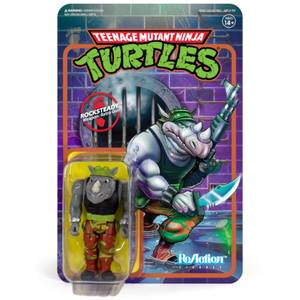 Super7 Teenage Mutant Ninja Turtles ReAction Figure - Rocksteady