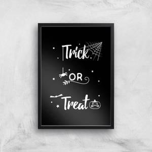 Trick Or Treat Spider Art Print