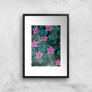 Dense Jungle Scene Art Print