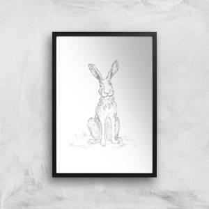 Hare Sketch Art Print