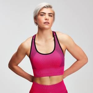 MP Women's Contrast Seamless Sports Bra - Super Pink