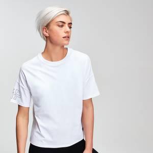 파워 여성용 티셔츠 - 화이트