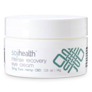Soji Health Intense Recovery Eye Cream Pure Hemp CBD 15mg