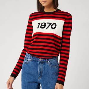 Bella Freud Women's 1970 Striped Jumper - Red